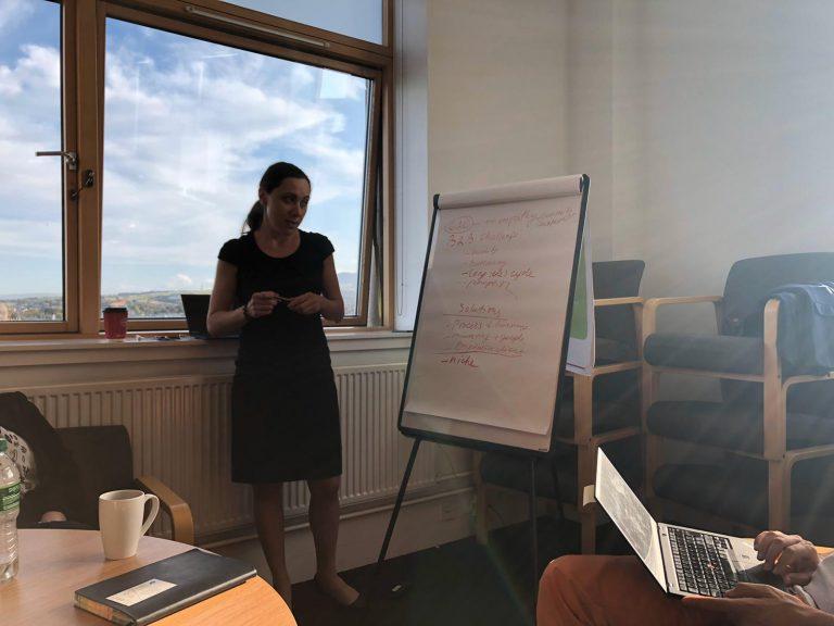 Karina Grosheva at refugeework meeting